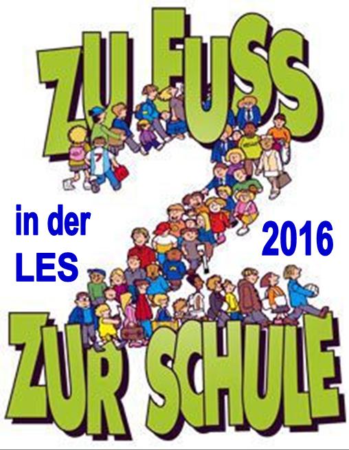 Zu Fuß zur Schule 2016 - Logo