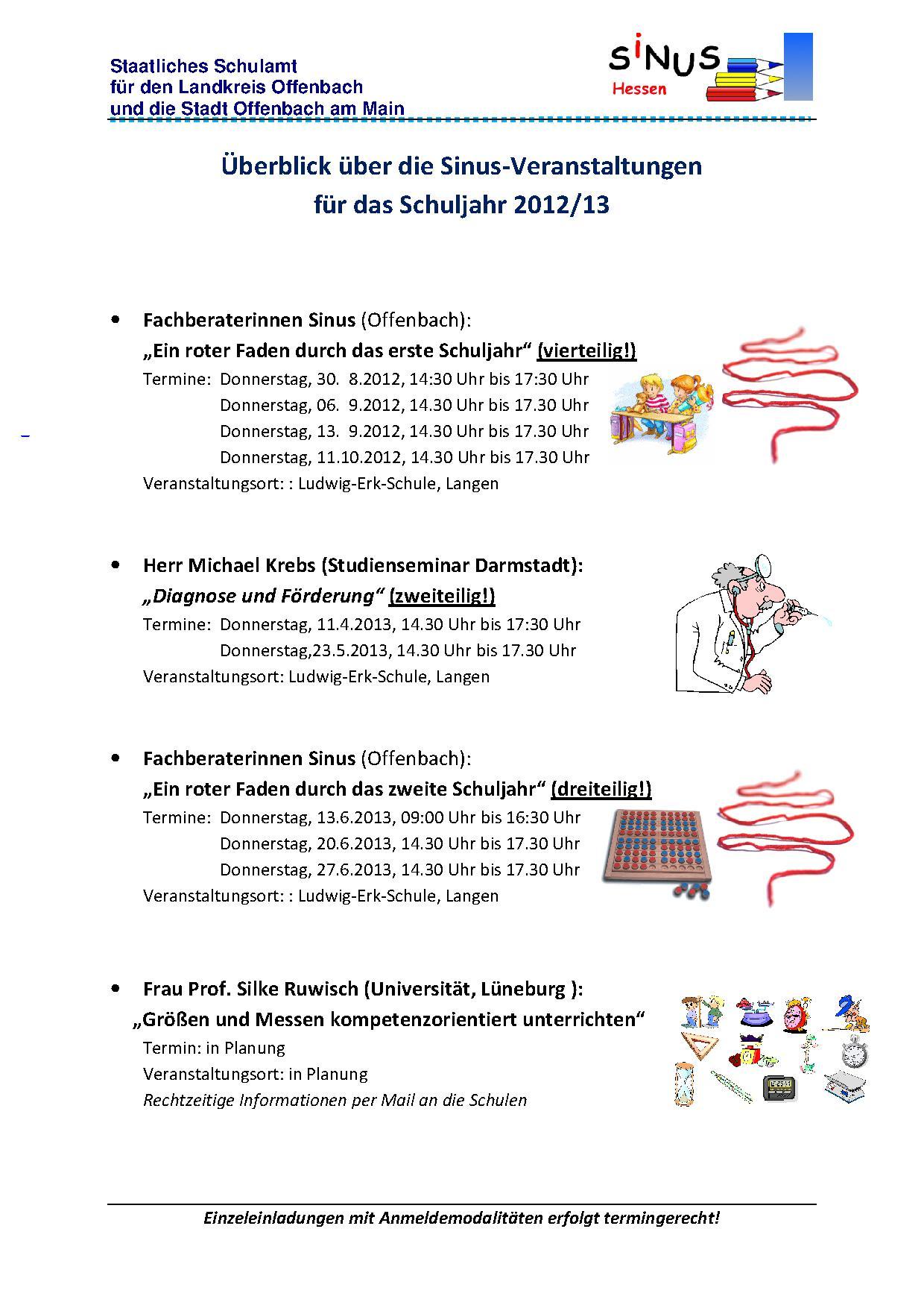 FB-Angebote 2012/13