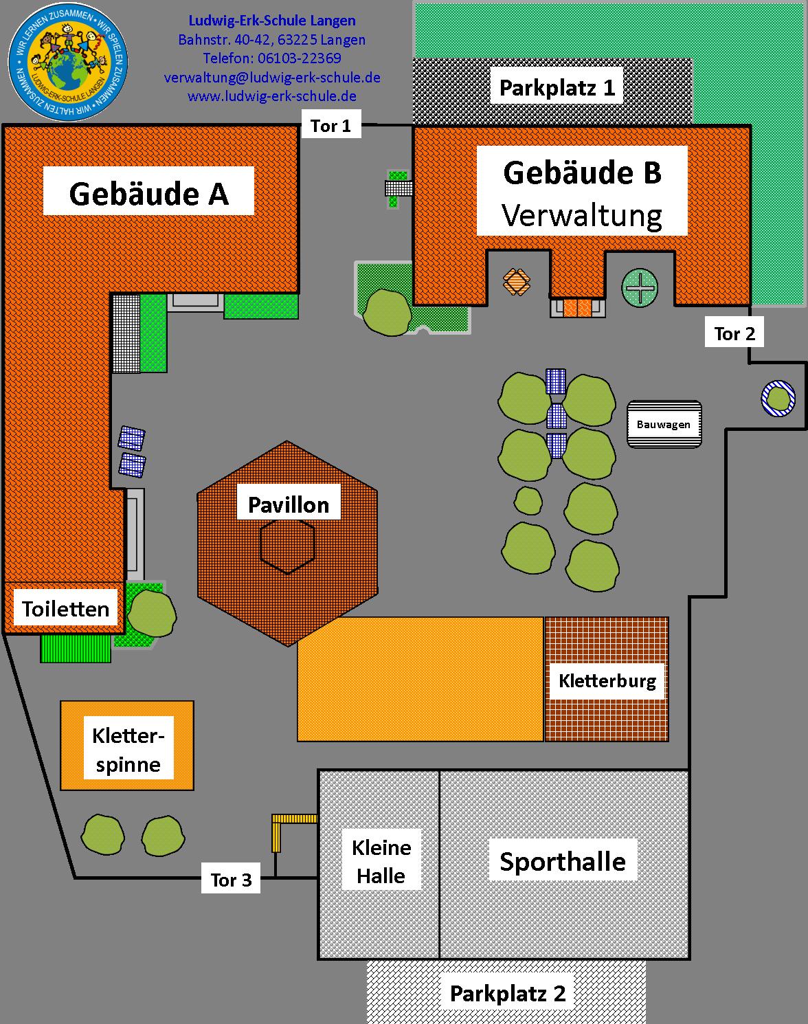 Gelände und Gebäude